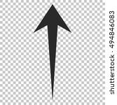 arrow up vector icon. image... | Shutterstock .eps vector #494846083