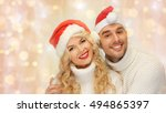 people  christmas  holidays and ... | Shutterstock . vector #494865397