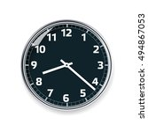 realistic isolated clock vector ...   Shutterstock .eps vector #494867053
