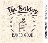 cake of bakery food design | Shutterstock .eps vector #494870617