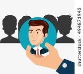human resource design | Shutterstock .eps vector #494871943