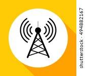 antenna.vector icon. radio...   Shutterstock .eps vector #494882167