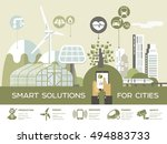 smart city vector illustration  ... | Shutterstock .eps vector #494883733