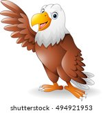 cartoon eagle presenting | Shutterstock .eps vector #494921953