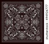 design for square pocket  shawl ... | Shutterstock .eps vector #494926777