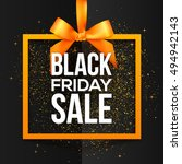 black friday sale white vector... | Shutterstock .eps vector #494942143