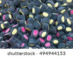 marshmallows stuffed with pink... | Shutterstock . vector #494944153