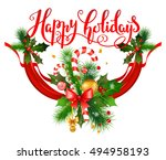 new year holiday greeting | Shutterstock .eps vector #494958193