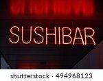 sushibar neon sign   Shutterstock . vector #494968123