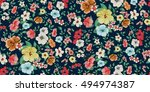 seamless floral pattern in... | Shutterstock .eps vector #494974387