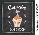 cupcake of bakery food design | Shutterstock .eps vector #494983087