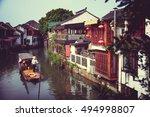 zhujiajiao  china traditional... | Shutterstock . vector #494998807