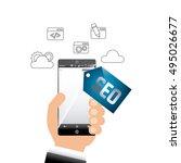 search engine optimization... | Shutterstock .eps vector #495026677