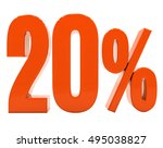 20 percent discount 3d sign on... | Shutterstock . vector #495038827