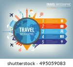 travel infographic.... | Shutterstock .eps vector #495059083
