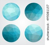 triangle low poly circles set.... | Shutterstock .eps vector #495081157