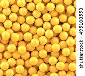 Yellow Balls Background. Vecto...