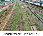 railway. the nodal junction of... | Shutterstock . vector #495124627