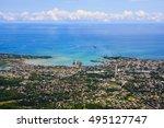 beautiful sea scape puerto... | Shutterstock . vector #495127747