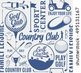 typographic vector golf club... | Shutterstock .eps vector #495131167