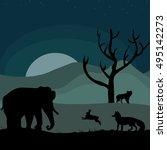 illustrative vector image world ... | Shutterstock .eps vector #495142273
