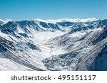 trans ili alatau mountains. top ... | Shutterstock . vector #495151117