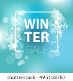 winter sale inscription on... | Shutterstock .eps vector #495153787