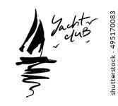 logo for yacht club | Shutterstock .eps vector #495170083