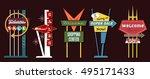 classic american signboards set ... | Shutterstock .eps vector #495171433
