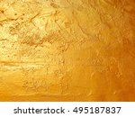 abstract gold color painted on... | Shutterstock . vector #495187837