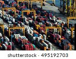 container for transportation ... | Shutterstock . vector #495192703