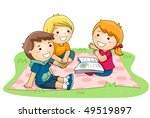 child telling stories in the... | Shutterstock .eps vector #49519897