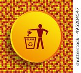 throw away the trash icon ...   Shutterstock .eps vector #495204547