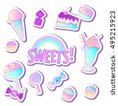 bright colorful bakery and... | Shutterstock .eps vector #495215923