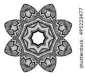 mandala design. hand drawn... | Shutterstock .eps vector #495223477