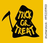 trick or treat. silhouette of...   Shutterstock .eps vector #495235903