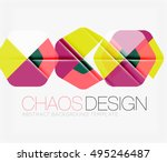 abstract background with round... | Shutterstock .eps vector #495246487