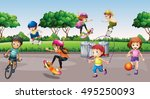 Children Playing Sports In The...