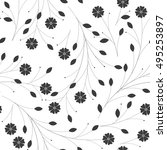 seamless pattern with branch... | Shutterstock .eps vector #495253897