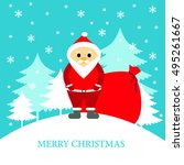 santa claus with gifts | Shutterstock .eps vector #495261667