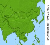relief map   china   3d... | Shutterstock . vector #495267577
