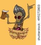 zombie vector. monster in... | Shutterstock .eps vector #495272803