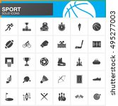 sport vector icons set  modern... | Shutterstock .eps vector #495277003