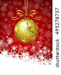christmas bauble card  | Shutterstock .eps vector #495278737
