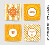 set of templates for covers... | Shutterstock .eps vector #495285283
