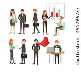 group people business and... | Shutterstock .eps vector #495296737