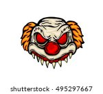 scary halloween mask costume  ... | Shutterstock .eps vector #495297667