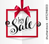 black big sale vector... | Shutterstock .eps vector #495298003