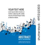 music notes on a solide white... | Shutterstock .eps vector #495310303