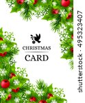 christmas banners with fir... | Shutterstock .eps vector #495323407